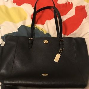 New Coach Turnlock Tote